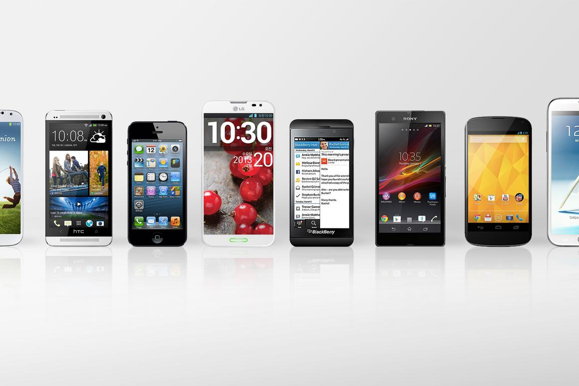 Gizmag compares the top smartphones on the market in early 2013.
