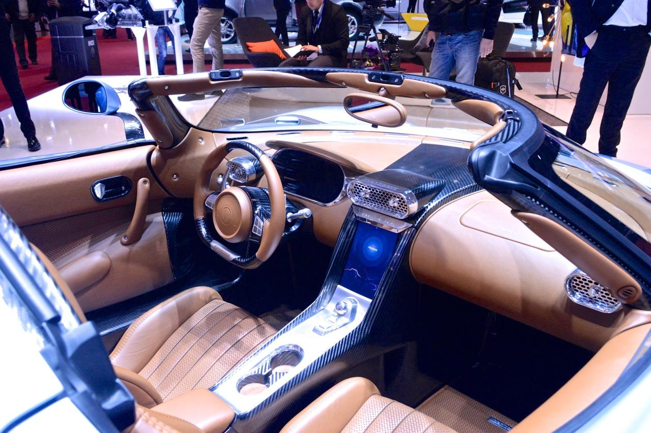 Because the Regera is less track-focused than other Koenigseggs, it has a more comfortable, GT-style interior (Photo: C.C. Weiss/Gizmag.com)