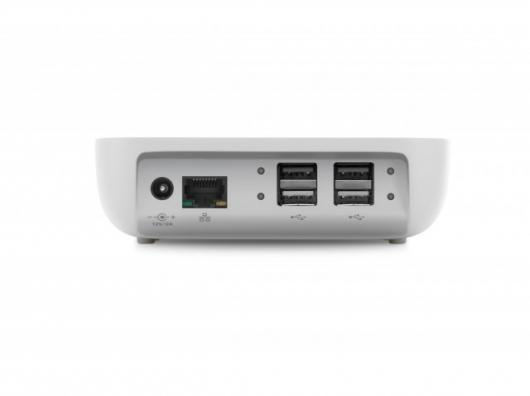 At the rear - four USB ports and ethernet and power