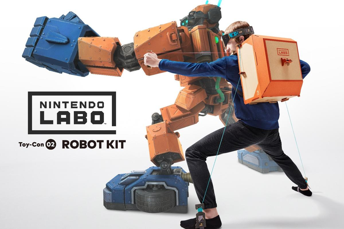 Nintendo has unveiled Labo, cardboard construction kits that turn the Switch console into things like a playable piano or wearable robot suit
