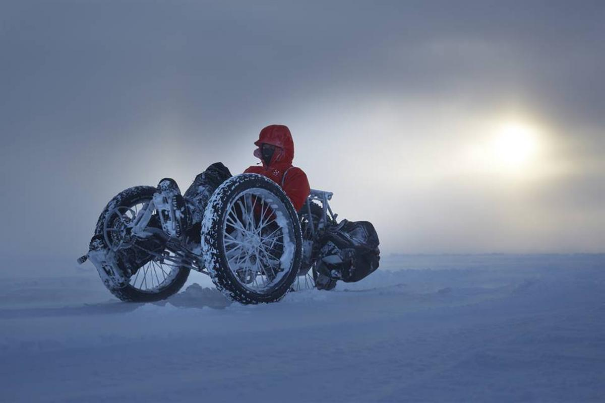 Maria Leijerstam is in the midst of attempting a trip to the South Pole on a custom-built ICE trike