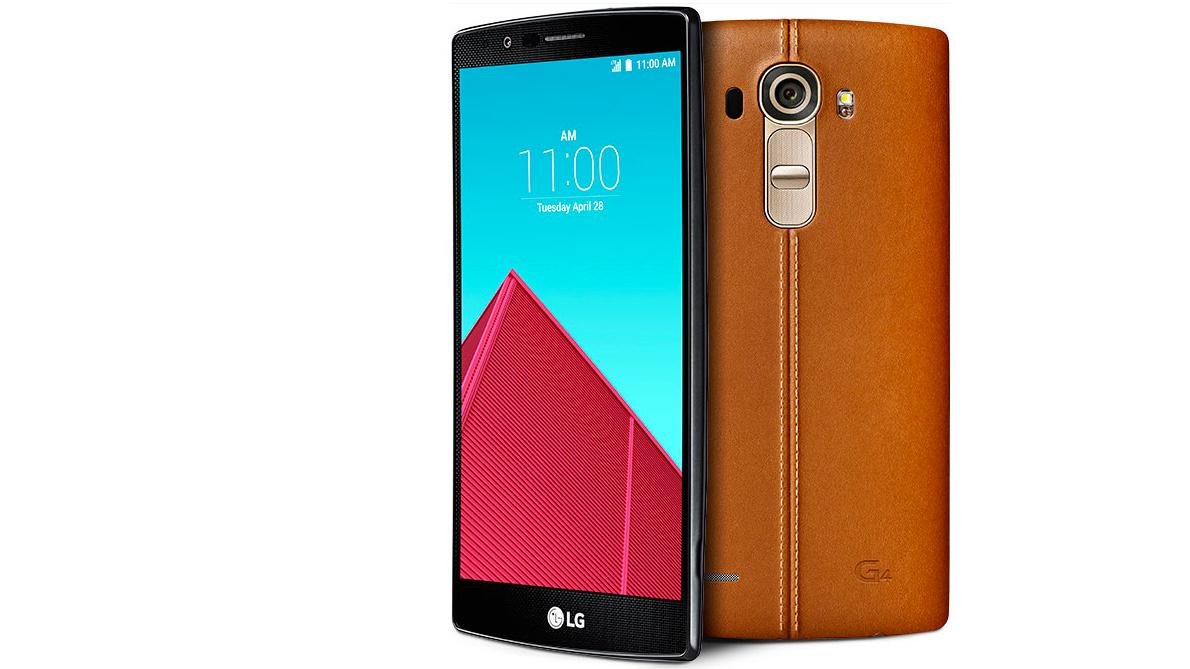 The leather back option (and 5.5-in Quad HD display) of the LG G4