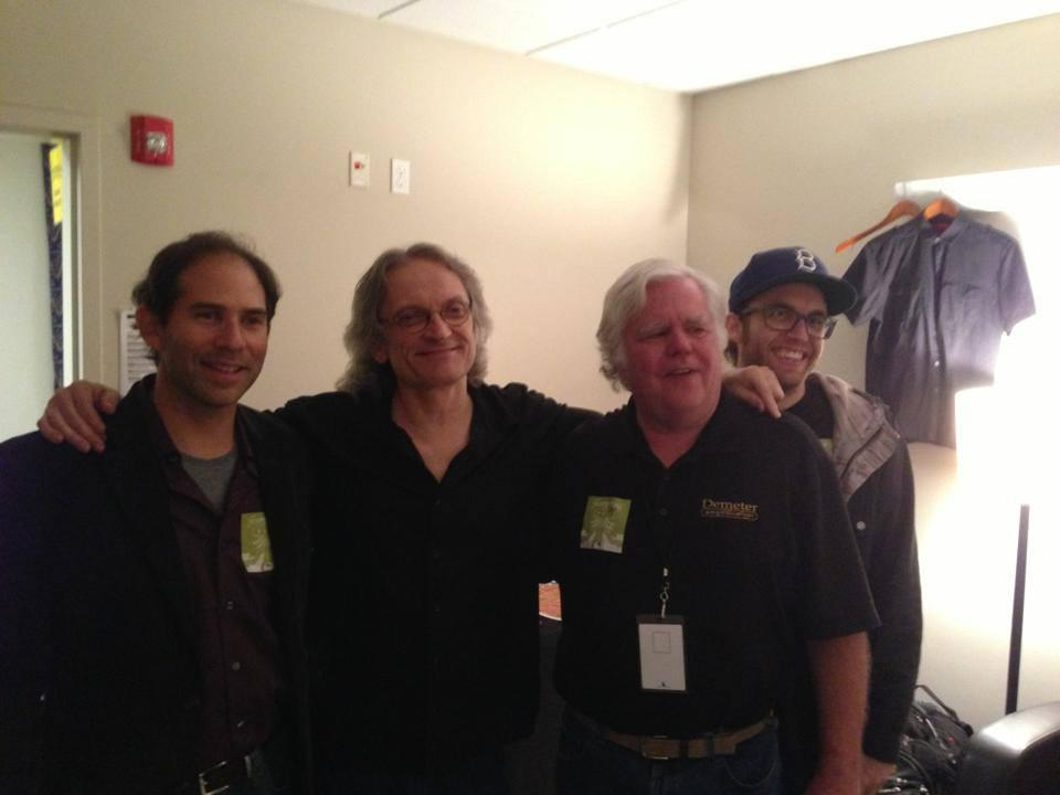 Veteran amp maker James Demeter with slide guitar master Sonny Landreth