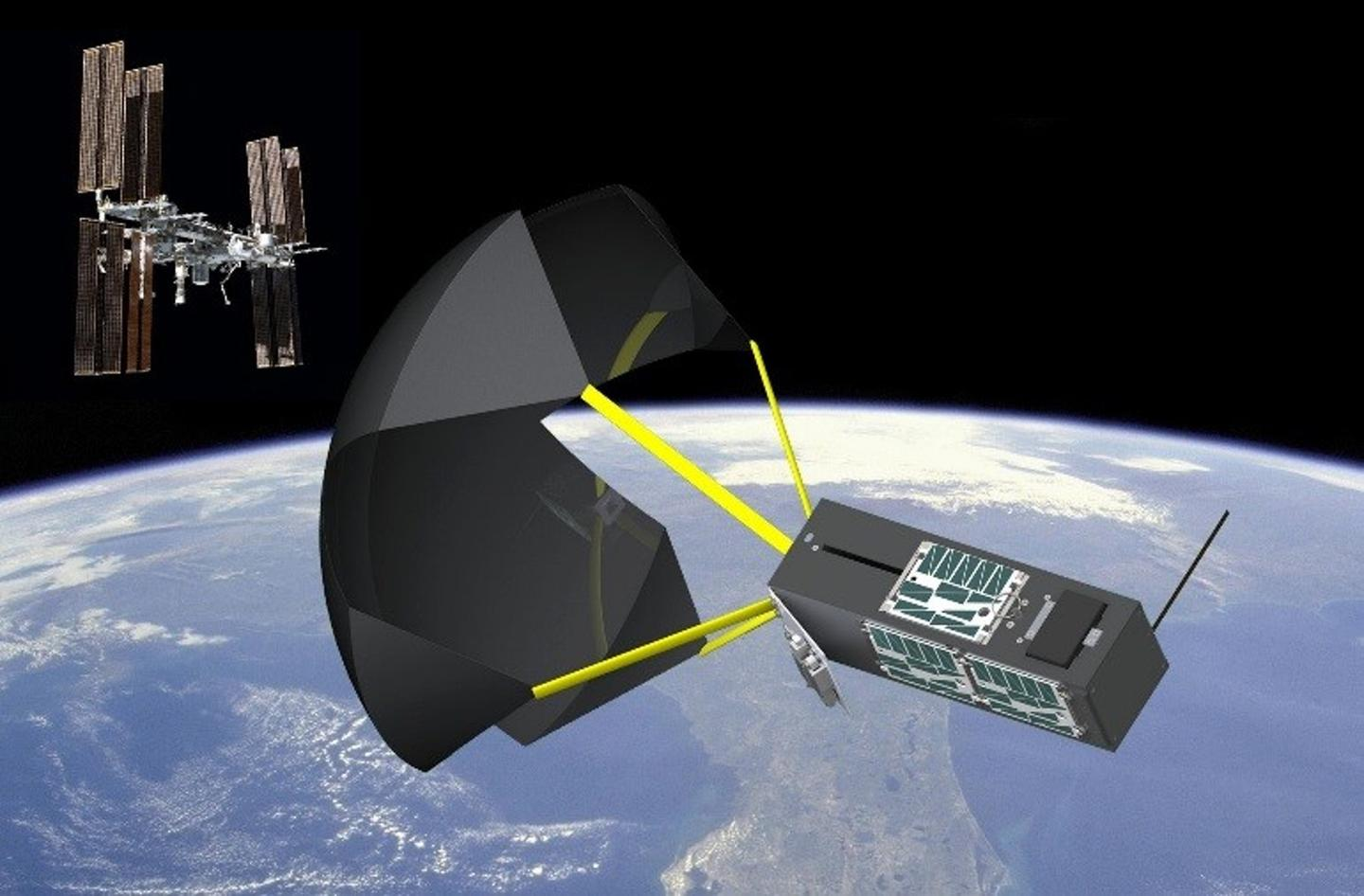 Artist's concept of the space drogue (Image: NASA)