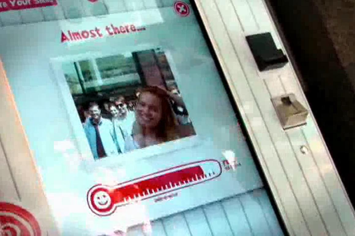 The vending machine's smile-o-meter