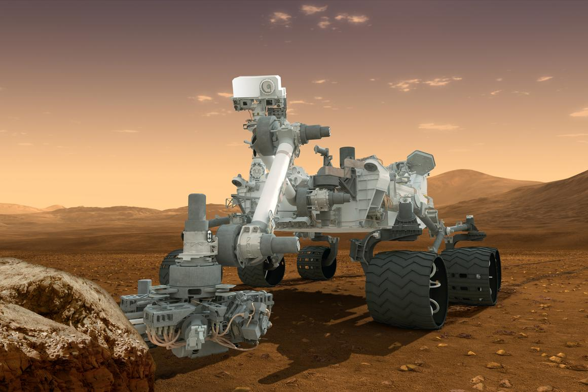 The new Mars rover will borrow much from the rover Curiosity (Image: NASA)