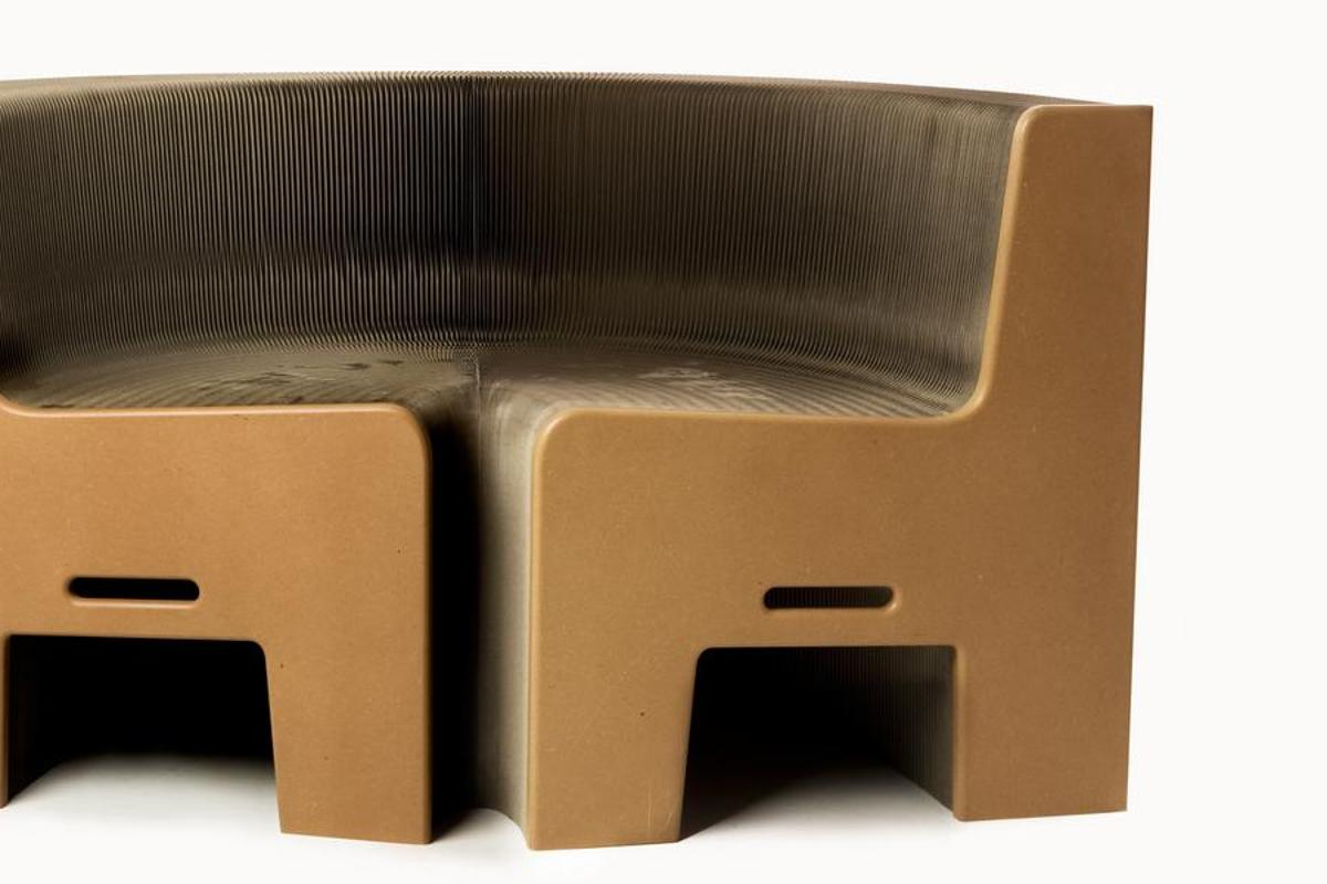 The FlexibleLove chair can be stretched and manipulated into a multitude of shapes and lengths