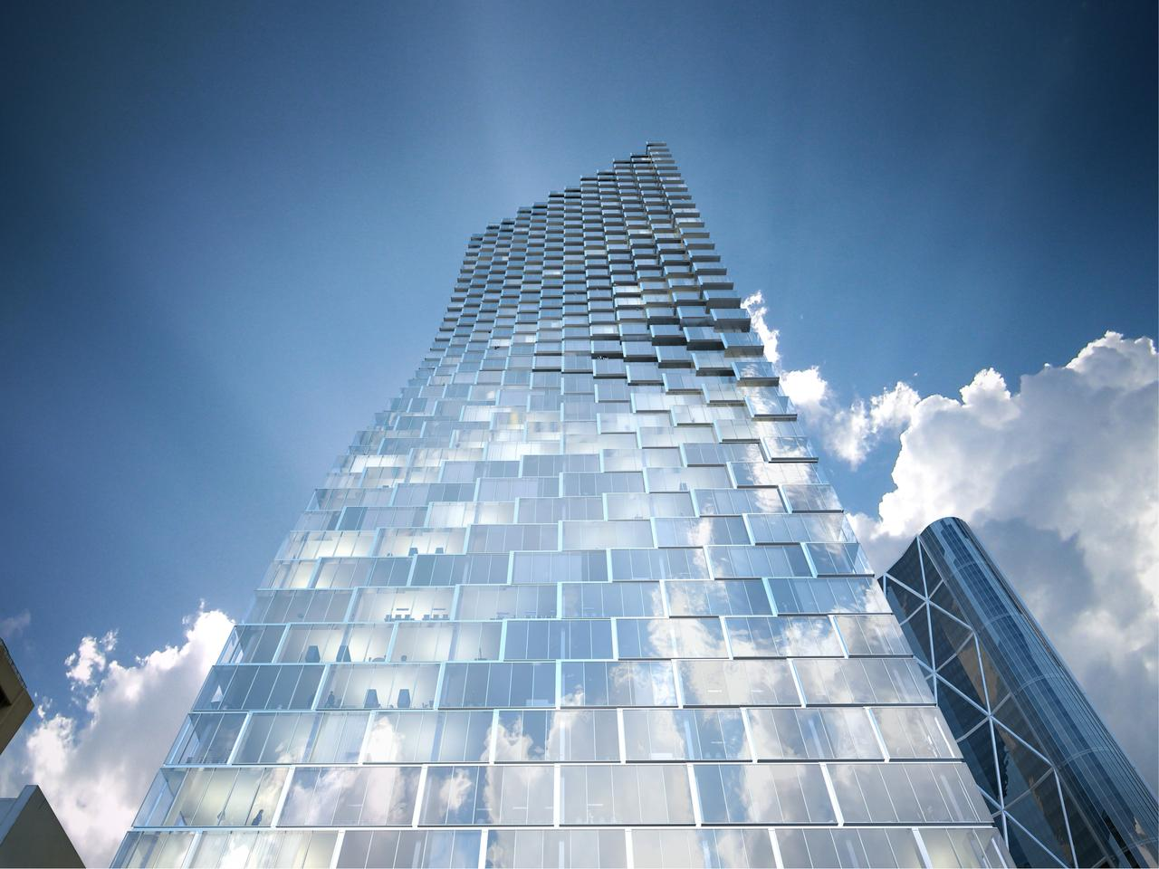 Telus Sky Tower will feature a mixture of residential, office, and retail spaces (Image: BIG)