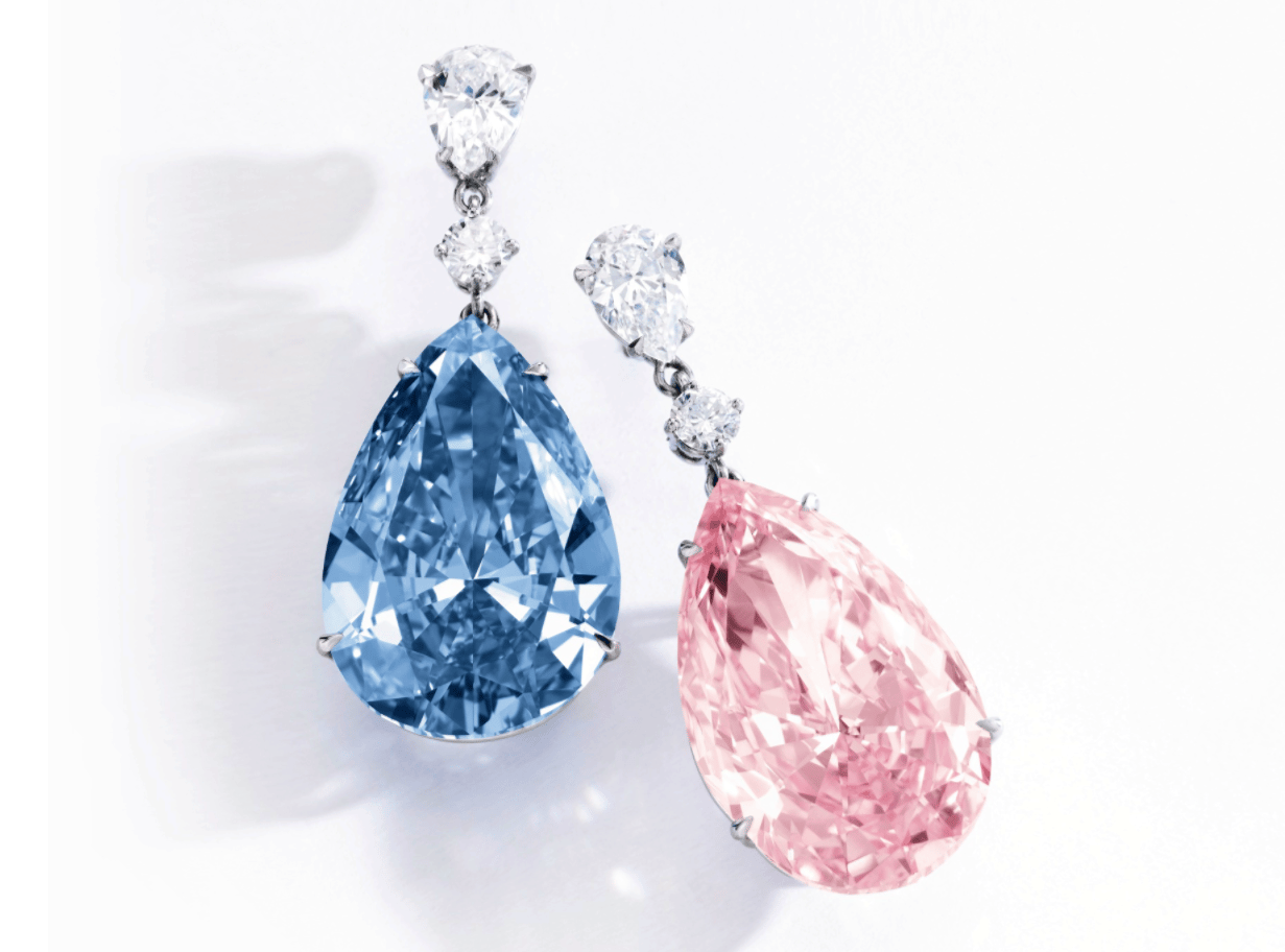 "The world's most expensive earrings sold in Geneva on on May 16, 2017, when the ""Apollo and Artemis Diamonds"" were sold to the same buyer for $41,255,566 and $15,035,061 respectively."