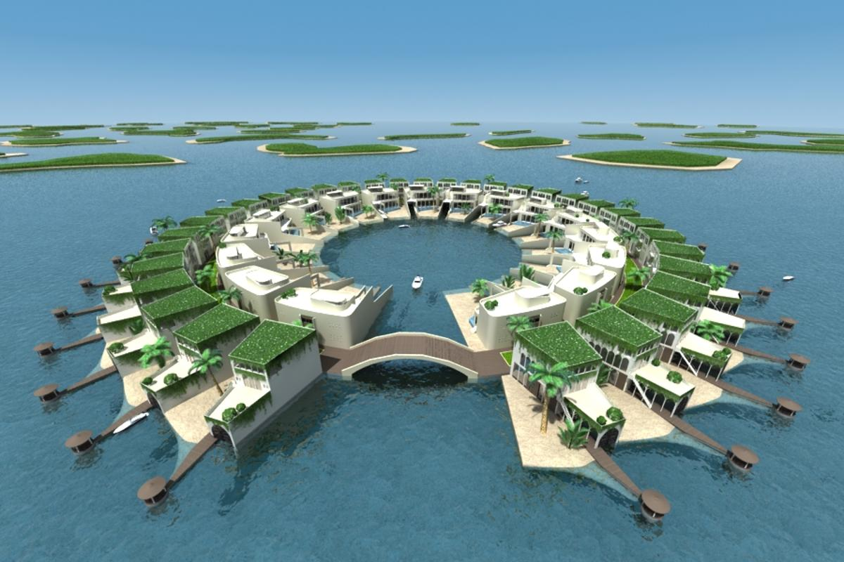 Architectural firm Dutch Docklands has developed, designed and engineered a master plan for 89 floating islands planned for the Middle East (image: Dutch Docklands)