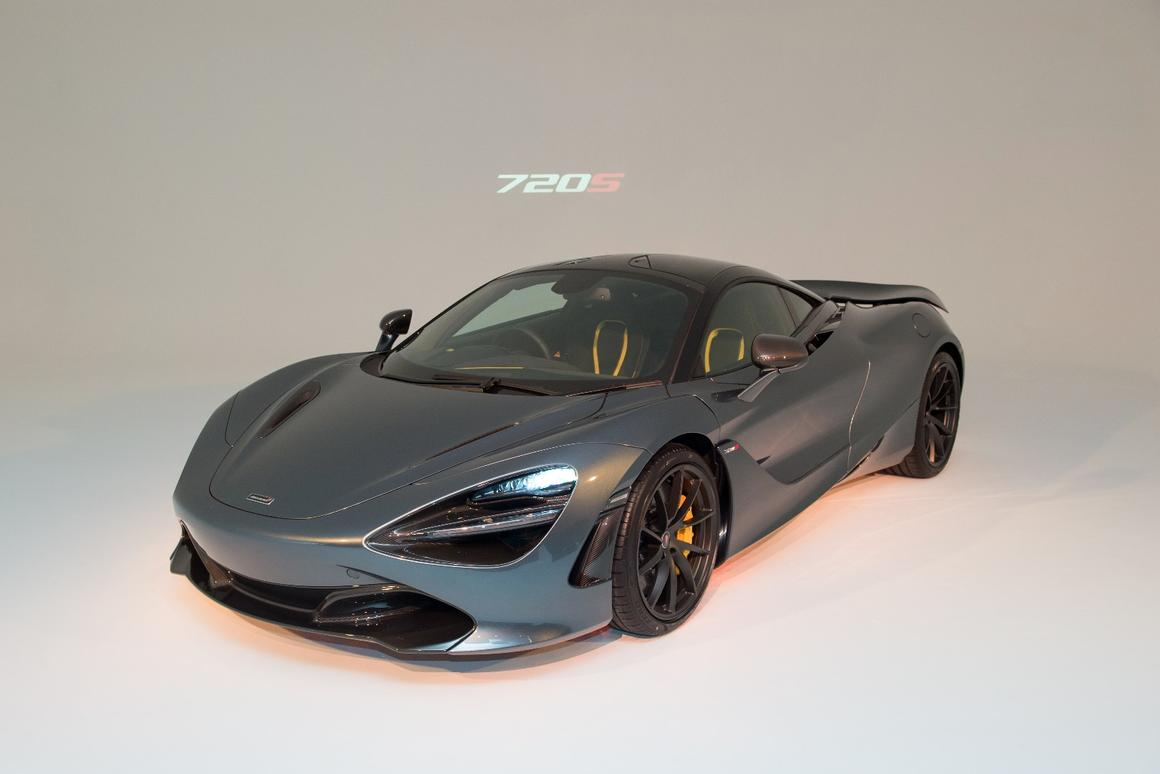 The new McLaren 720S on show in Melbourne