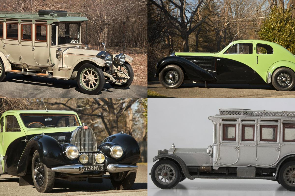 Two iconic automobiles will go under the hammer in June - a 1912 Rolls-Royce Double Pullman Limousine, and the personal 1938 Type 57C of the Ettore Bugatti