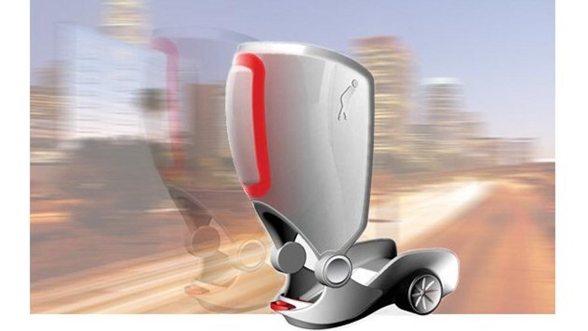 Peter Treadway sees the future of personal mobility as a motorized attachment to existing footwear that will allow for normal walking, cycling and driving but offer a short-range burst of wheeled propulsion when required