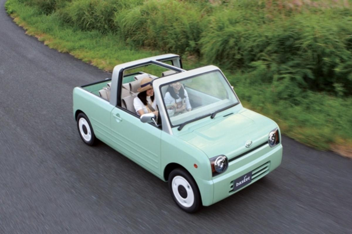 The basket - a tiny take on a kind of pick-up truck crossed with a roadster