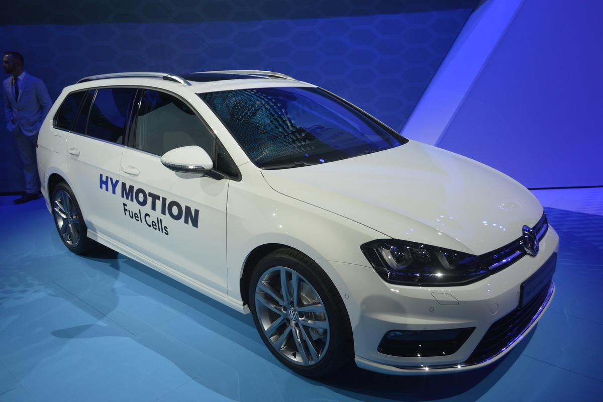 Volkwagen's Golf SportWagen HyMotion in Los Angeles (Photo: C.C. Weiss/Gizmag)
