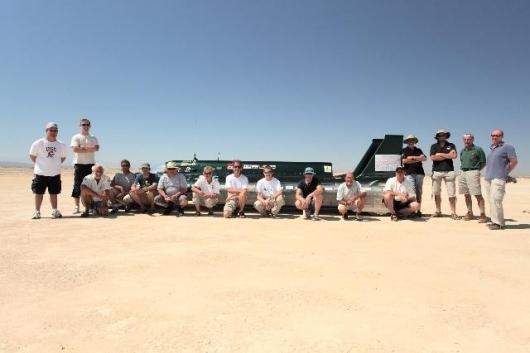 The British Steam Car Challenge team already has the 100-year-old land speed record in its sights