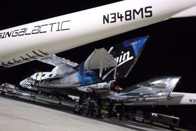 VSS Unity being prepared for flight