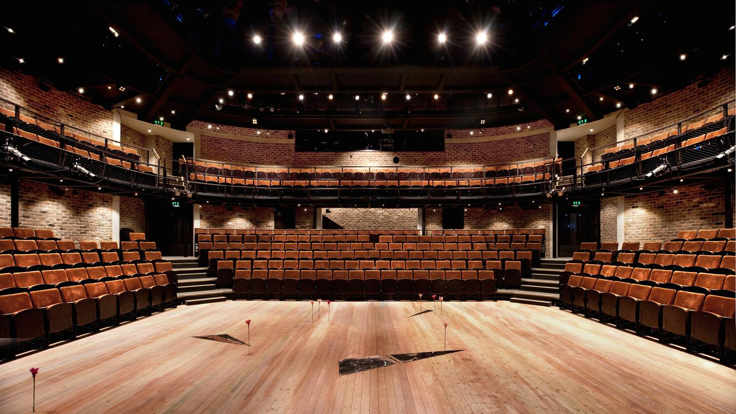Inside the Everyman Theatre, stage view (Photo: Philip Vile)
