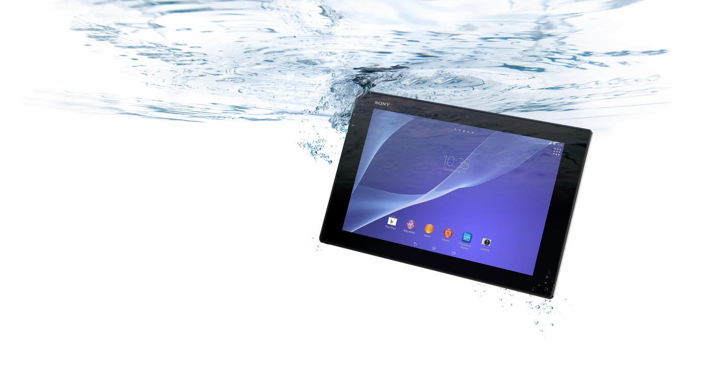 Sony's Xperia Z2 Tablet is claimed the world's slimmest and lightest waterproof tablet