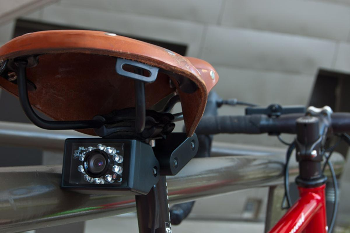 The Owl 360 is a rearview camera and monitor system for bicycles