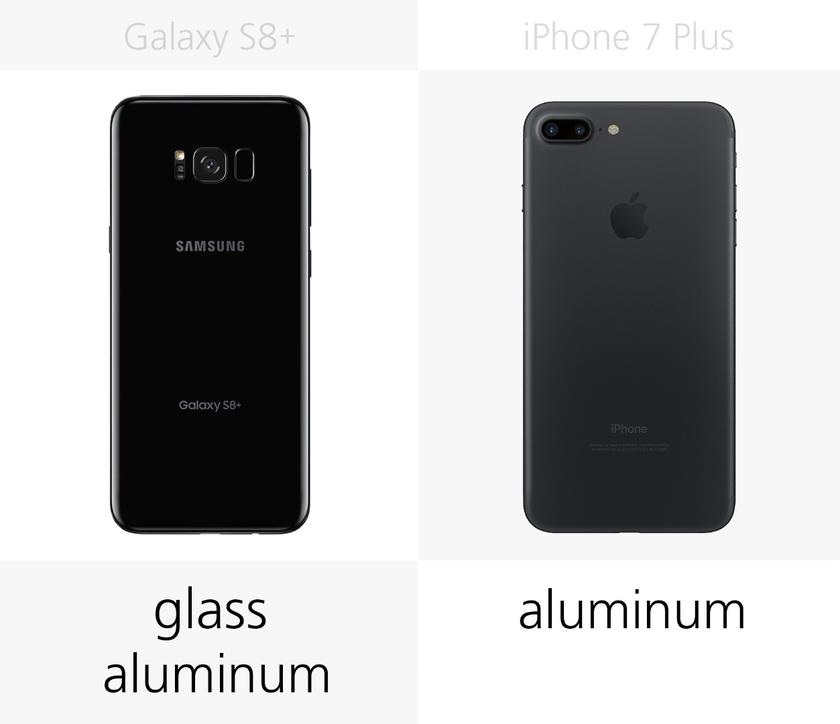 Samsung Galaxy S8+ vs  iPhone 7 Plus