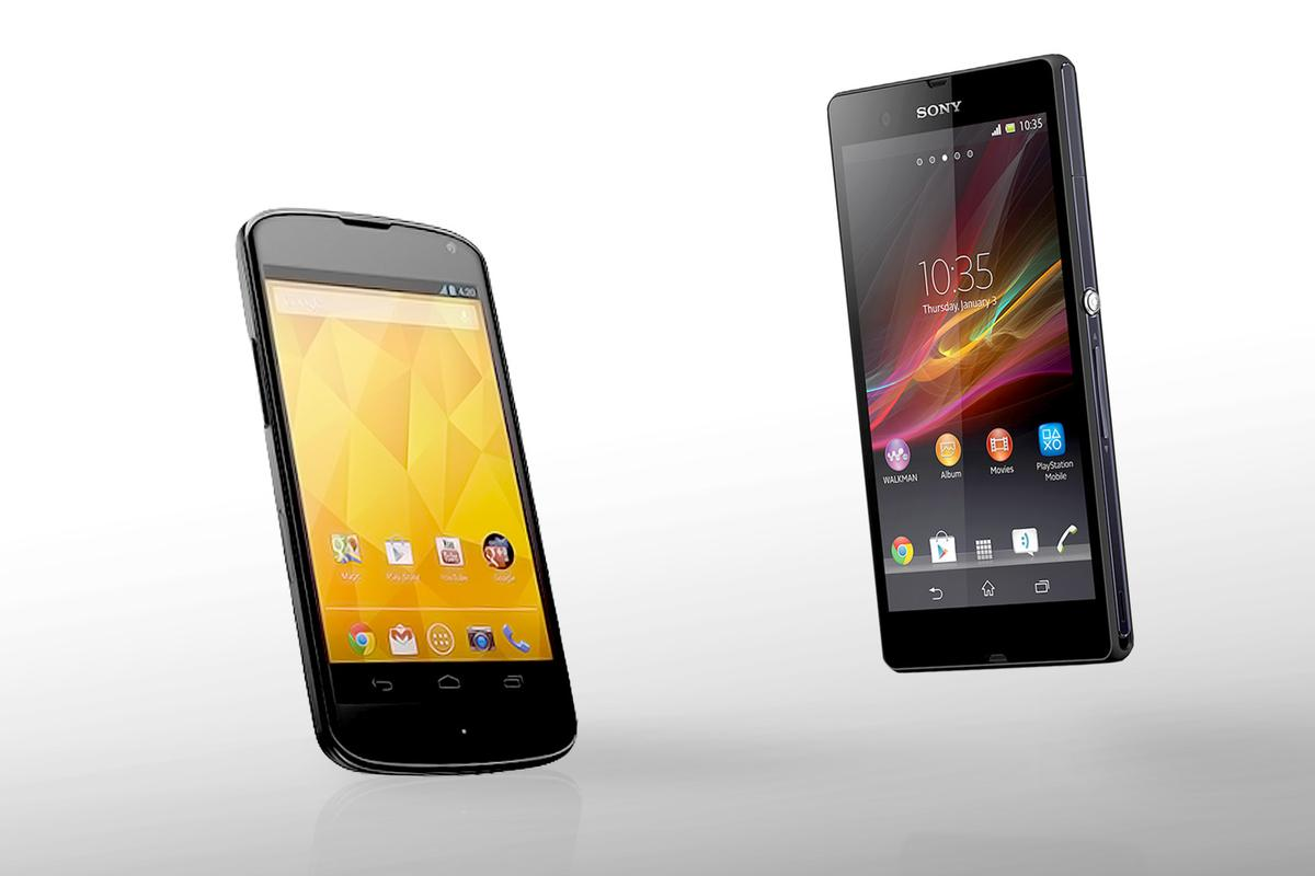 How does the Sony Xperia Z compare to the LG Nexus 4?