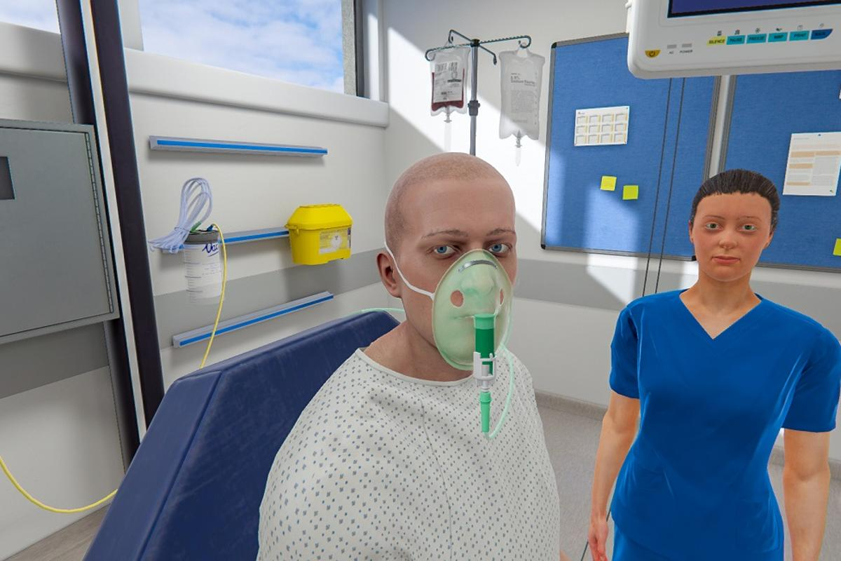 The VR ward offers a way to learn healthcare skills without negatively impacting on real patients