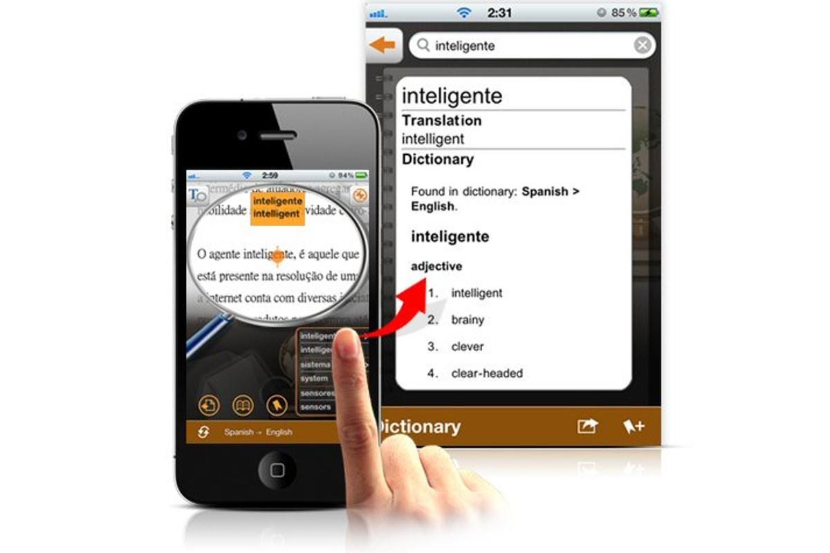 Penpower Technology has released an iPhone app which uses the device's camera and Google's translating prowess to offer instant word translation and definition