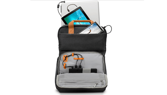 HP's Powerup Backpack chargessmartphones, tablets and laptops