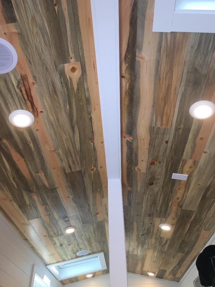 LED lighting is installed throughout the Rocky Mountain Tiny Home