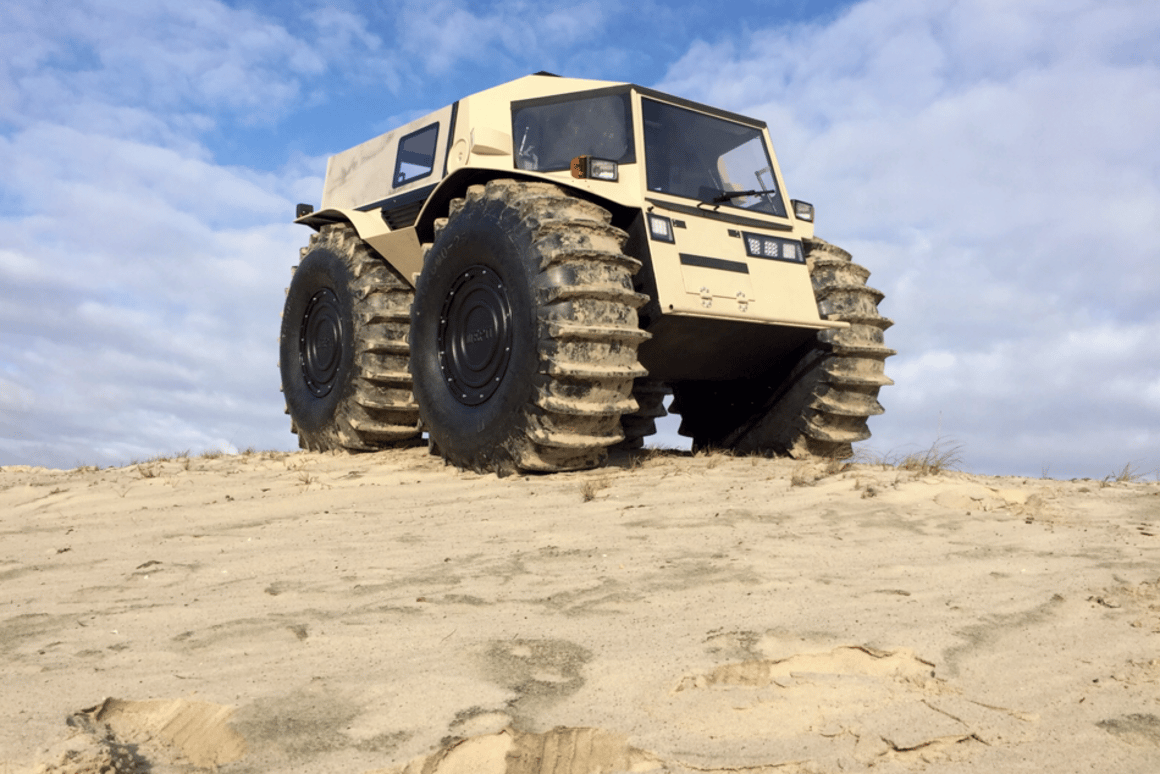 The Sherp ATV is over one tonne of all-terrain ruggedness