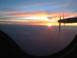 Shot from the cockpit of Solar Impulse 2 as taken by pilot Andre Borschberg