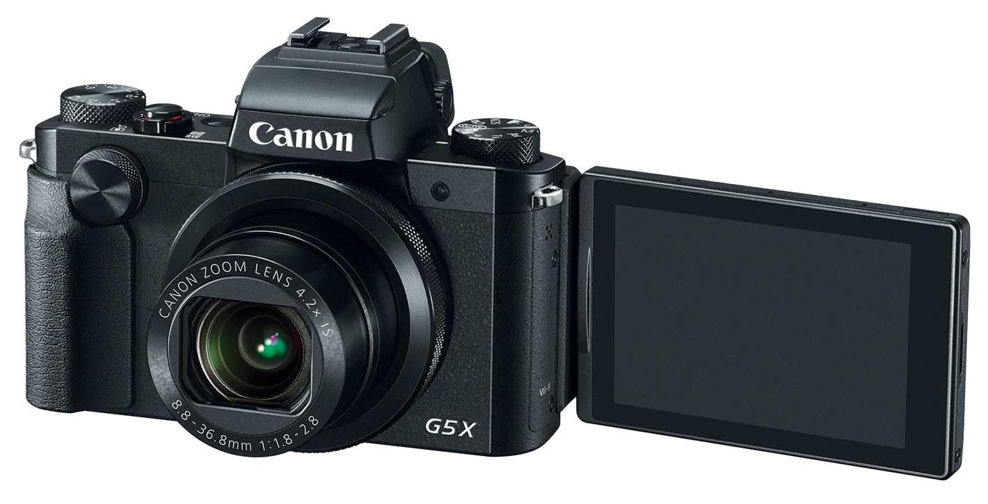 The Canon PowerShot G5 X features a 3-inch vari-angle touchscreen with 1.04 million dots
