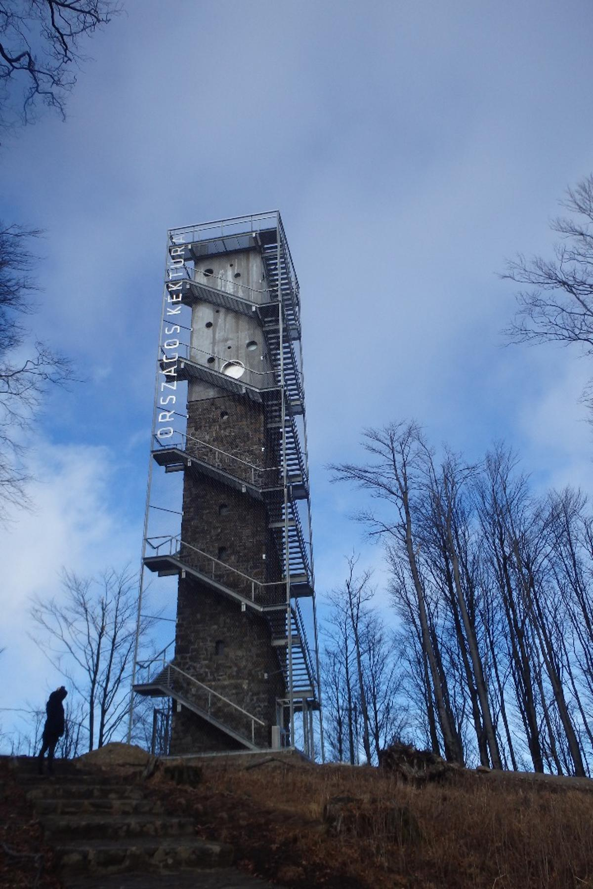 Originally rising to 17 m (55 ft) the Lookout Tower at Galyatető has been extended in height to 30 m (98 ft)