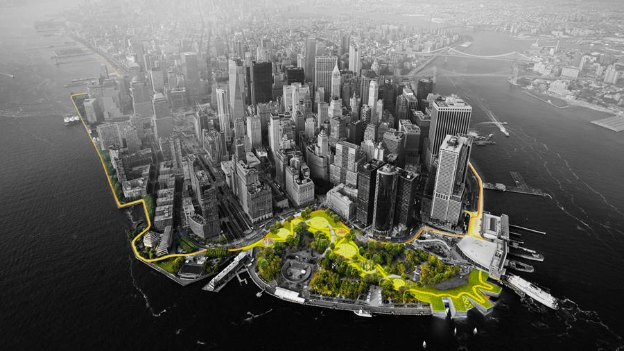 Denmark's Bjarke Ingels Group (BIG) has been awarded $335 million to improve lower Manhattan's flood and storm defences (Photo: Rebuild by Design)