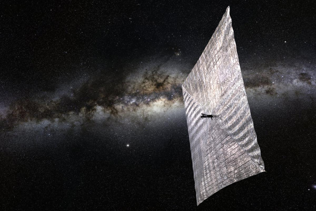 The LightSail satellite is locked up due to a software glitch