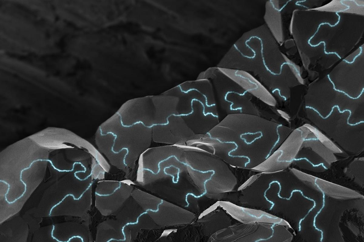 Conducting along the boundaries of individual grains, a normally non-conducting material may one day provide superior magnetic memory devices