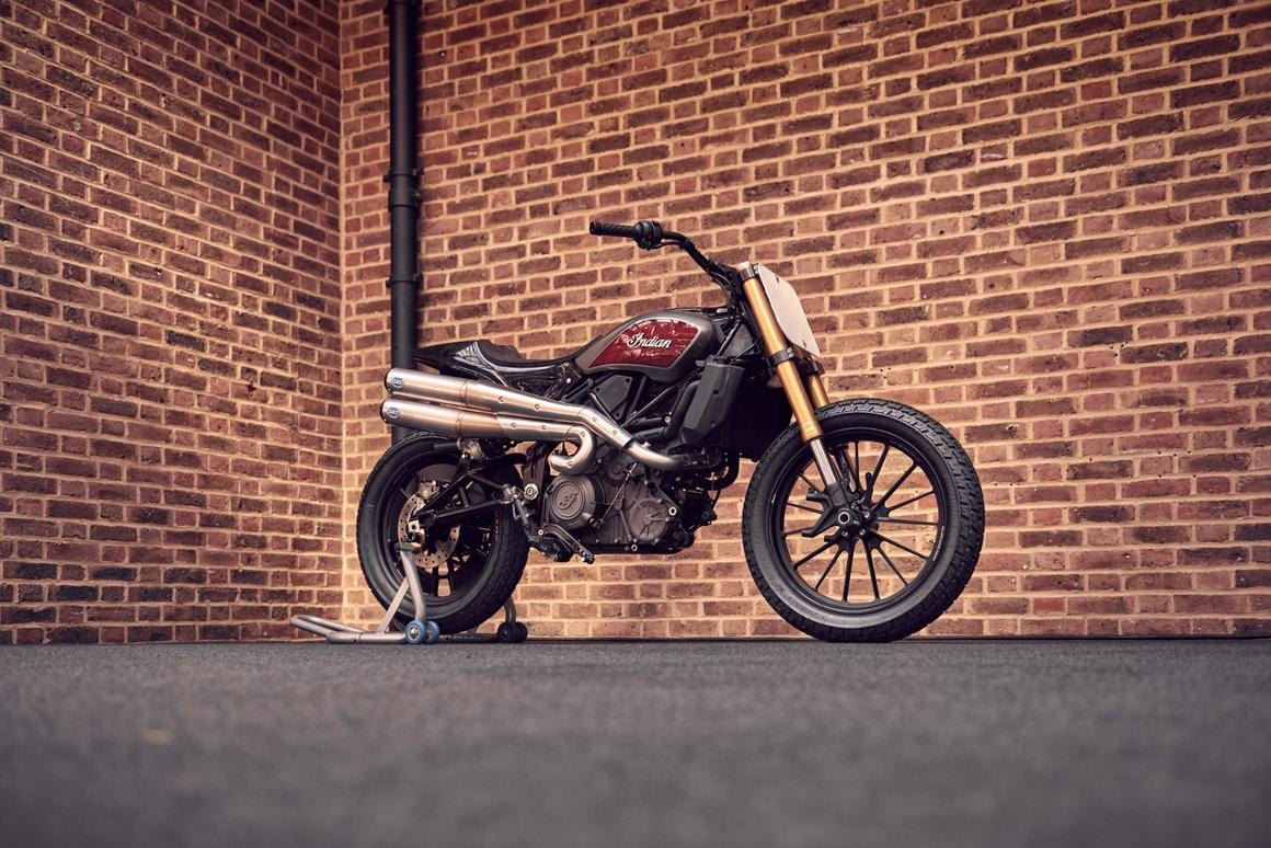 Indian's FTR1200, stripped back to Hooligan racing spec