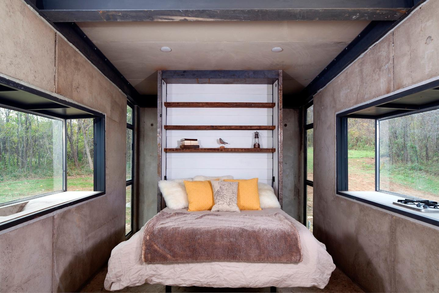 The Lost Whisky Concrete Cabin has a total floorspace of 160 sq ft (14.8 sq m)