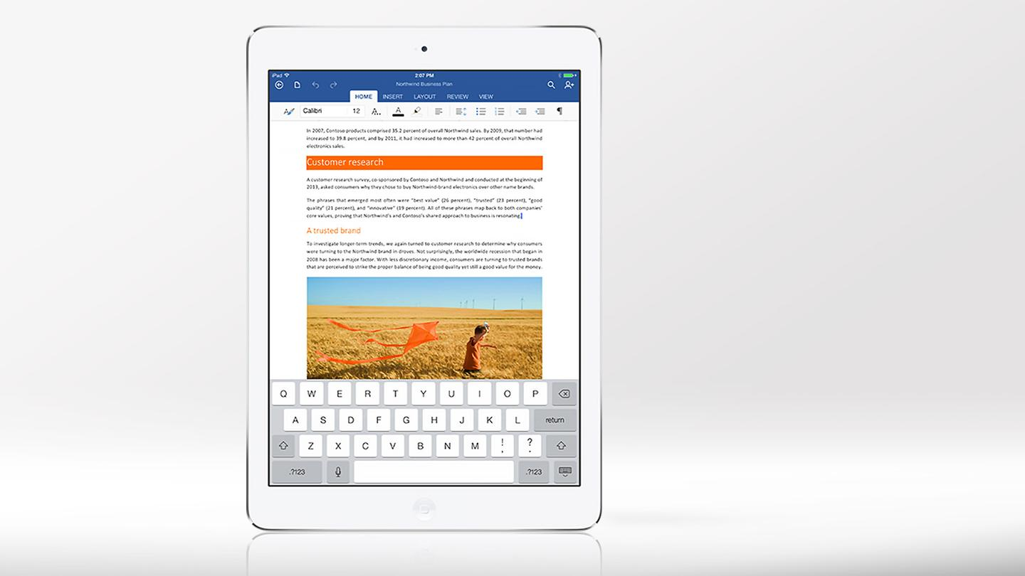 Word, Excel, and PowerPoint are available as individual apps