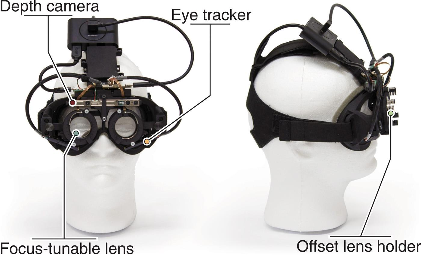 The current prototype of the autofocal glasses is bulky, but the team hopes that in future they could be slimmed down