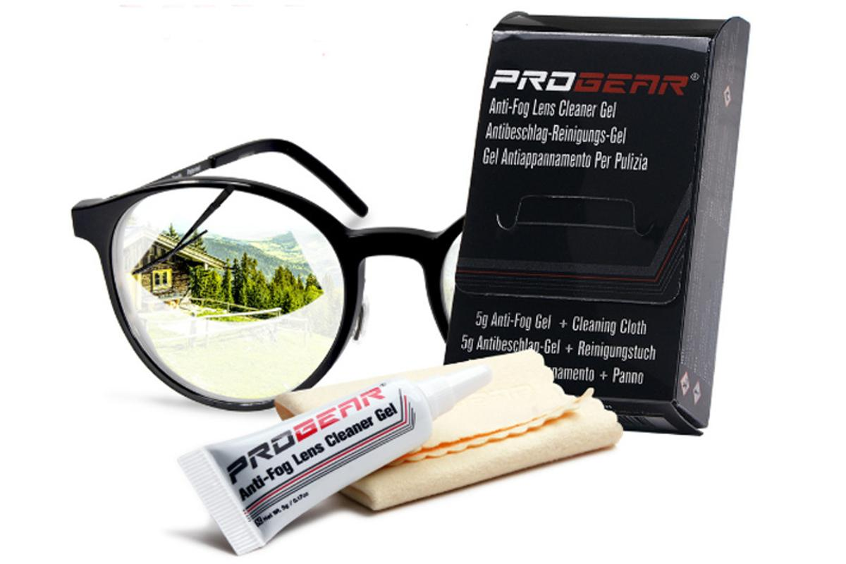 PROGEAR's anti-fog gel and wipes use no dangerous PFAS chemicals, and will stop your glasses misting up for up to 24 hours
