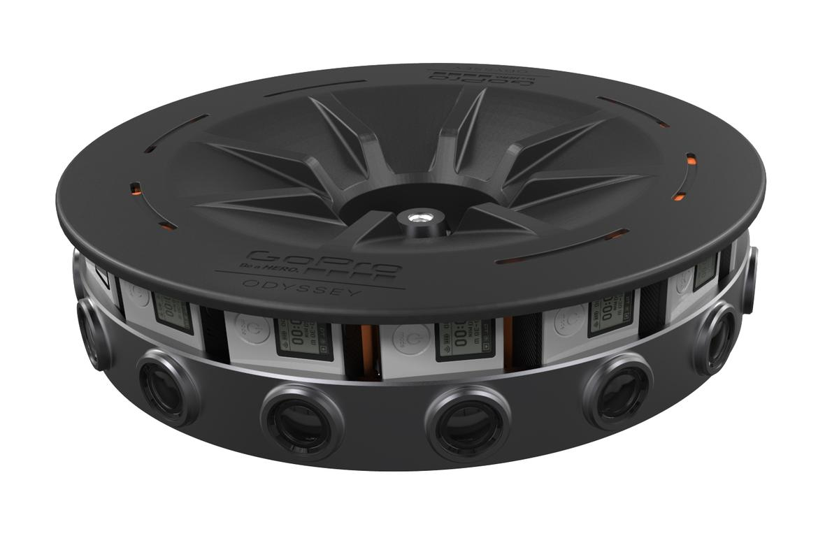 GoPro's Odyssey rig shoots 360-degree footage with 16 Hero4 Black cameras