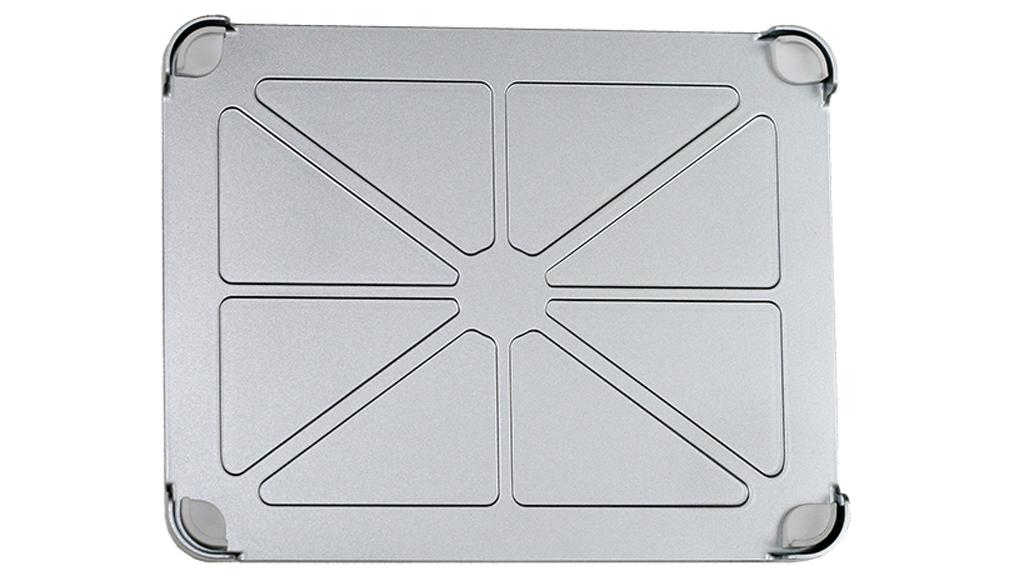 The FridgePad is cast and machined out of a solid chunk of aluminum