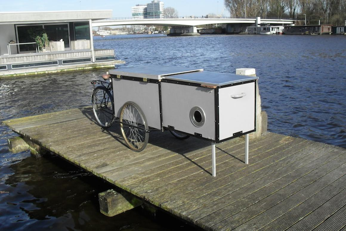 The Housetrike combines transportation, cargo hauling and shelter