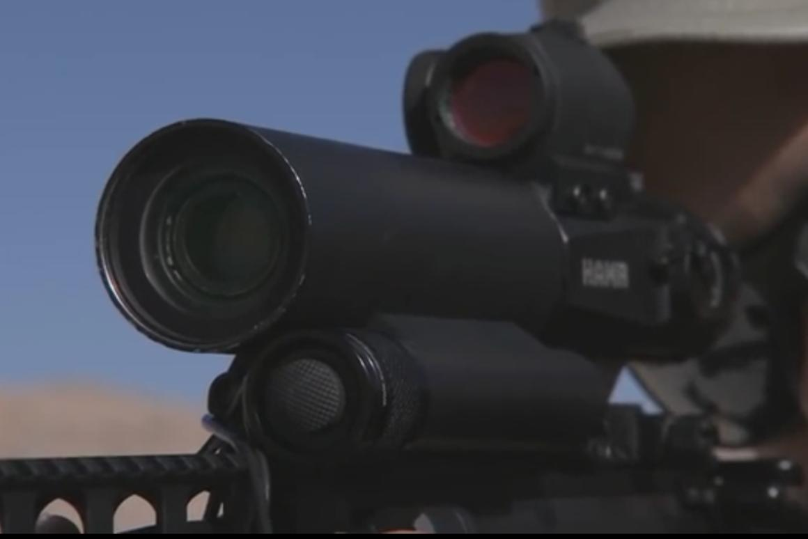 The RAZAR riflescope allows shooters to change focus without distraction