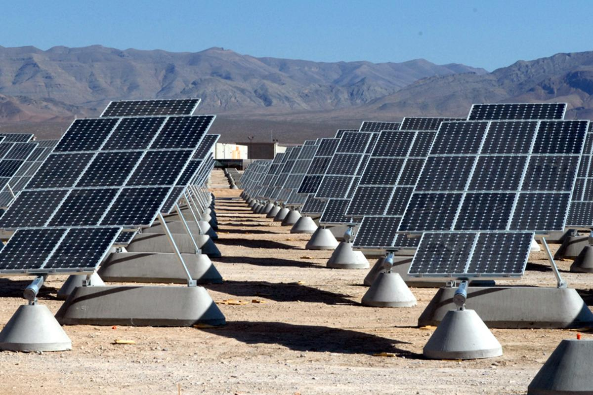 Solar power plant at Nellis Air Force Base