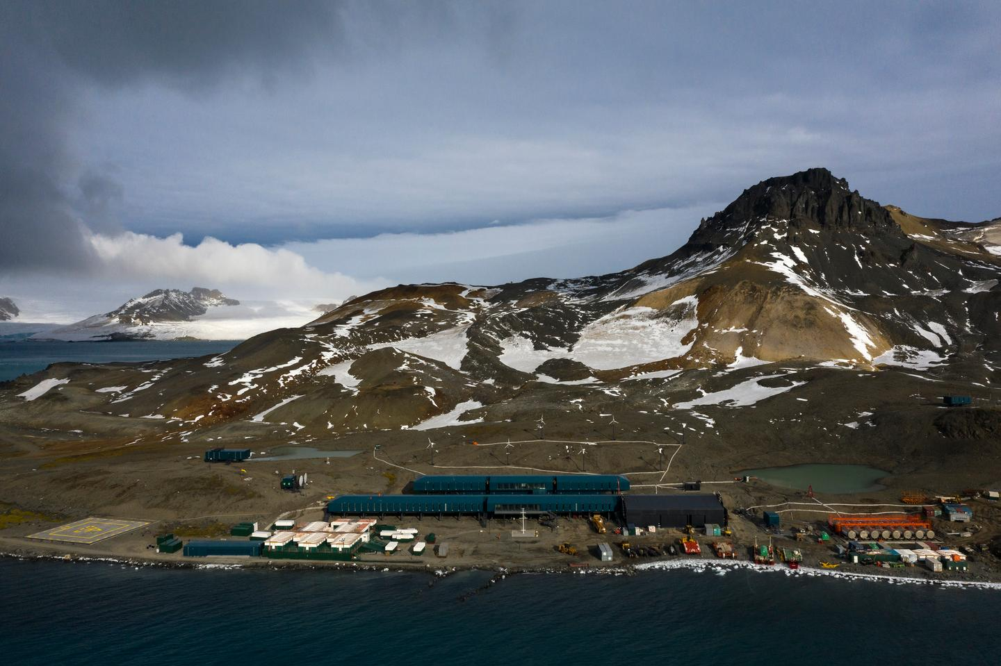 The Antarctic Station Comandante Ferraz is located on King George Island in the Keller Peninsula