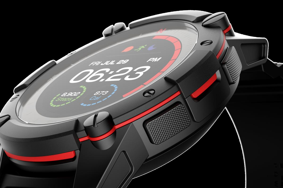The PowerWatch 2 adds a solar cell and a color display to the original PowerWatch design