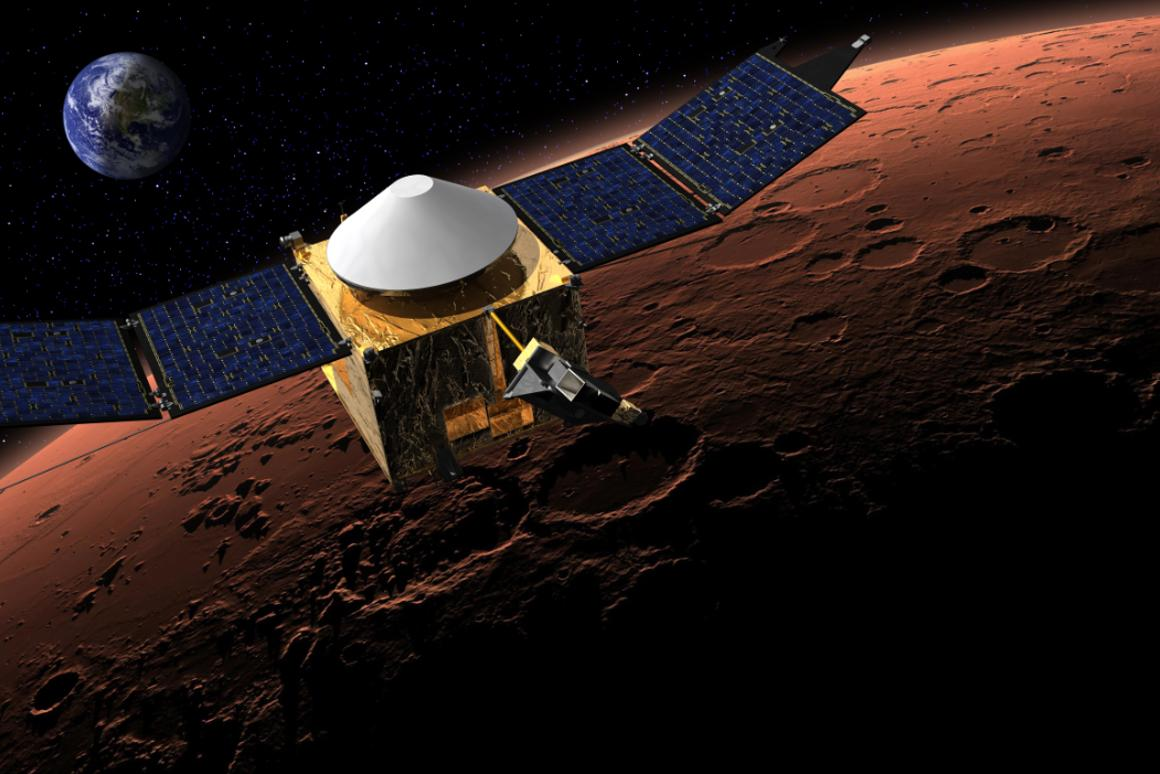 Artist's concept of the MAVEN spacecraft (Image: NASA/Goddard)